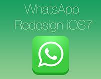 WhatsApp Redesign iOS7