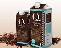 Milk carton - Q Sjokolade melk