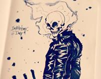 Inktober Day 4: Ghost Rider