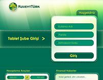 Kuveyt Türk Bankası iPad Arayüz Tasarımı