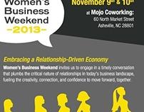 Women's Business Weekend Flyer