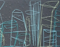 Ciudad de hilo y Escultura de hielo