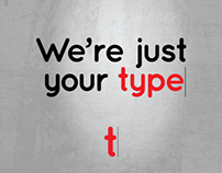 We're Just Your Type Logo