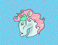 WANNABE UNICORN - sticker;