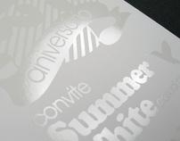 Summer White party  invitation