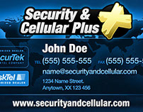 Security & Cellular Business Card 2012