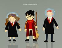 Harry Potter cartoon's characters