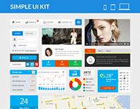Simple UI Kit - Flat UI Elements