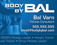 Body By Bal Business Cards 2013
