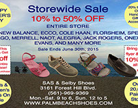Post Card for Shoe Store Sale, 2015