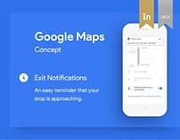 Google Maps Exit Notifications (concept)