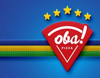 Oba Pizza - Logotipo versão comemorativa Copa 2014