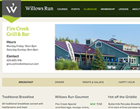 Willows Run Golf Course Layout and Illustration Design