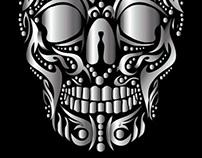 tattoo tribal silver skull vector art