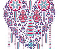 ethnic geometric heart vector art