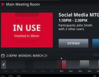 Meeting room booking software - Tablet UI/UX design