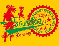 samba brazil vector art