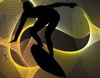 pacific line surfer vector art