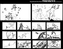 Storyboards from an Untitled Frankenstein project