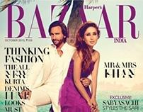 Harpers Bazaar India Oct 2013 Cover Story