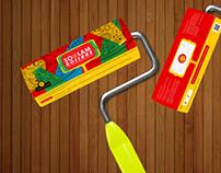 Paint Roller Brush wrapper
