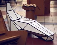 Cardboard Stealth Chair