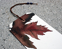 Bookmarks Originals watercolors Autumn leaves