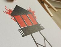 Watchtower: Letterpress Art Print