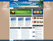 Tropical Reservations Website 2009