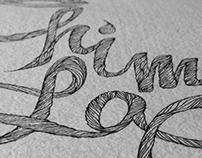 """Chim Lac"" Lettering"