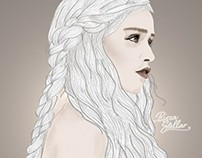 Daenerys Targaryen Digital Drawing