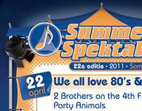 Summers Spektakel 2011 Poster Design