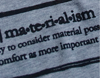 'Label-Free' Materialism T-shirt Design