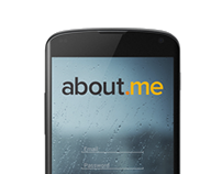 about.me Android app concept login & setup