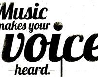 Music makes your voice heard
