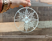 Snowflake Custom Metal Christmas Tree Ornament