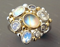 Custom made Moonstone ring
