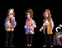 Frasier in pixels - characters