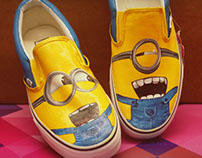 Minion Hand Painted VANS