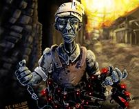 """Born to Live"" D.C. Fallout Objector album art & design"