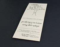 Spitzer Letterpress Wedding Invitation
