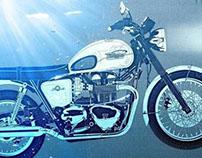 Triumph Bonneville Vector Illustration