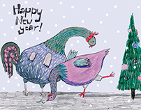 New Year 2017 postcards