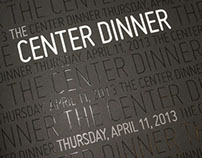 Center Dinner Event Branding Design