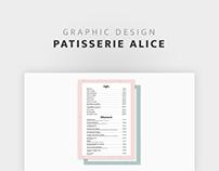 Pâtisserie Alice - Carte des boissons