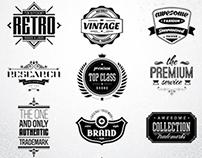10 Retro badges & logos vol.2