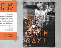21st Birthday Invitation