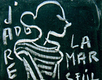 Blackboard drawings by Andrea Ferolla