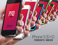 iPhone 5S Mockup - Hand PSD - Version 2