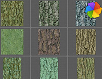 High resolution bark textures.
